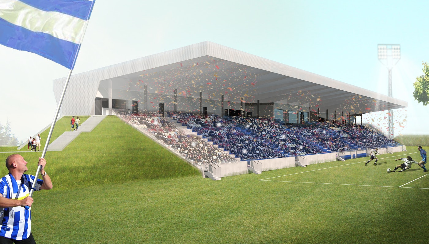 Extension of Lyngby Stadium