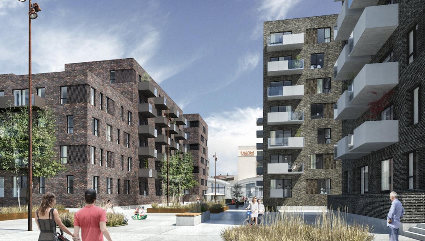 Housing at Godsbanearealet, Aalborg