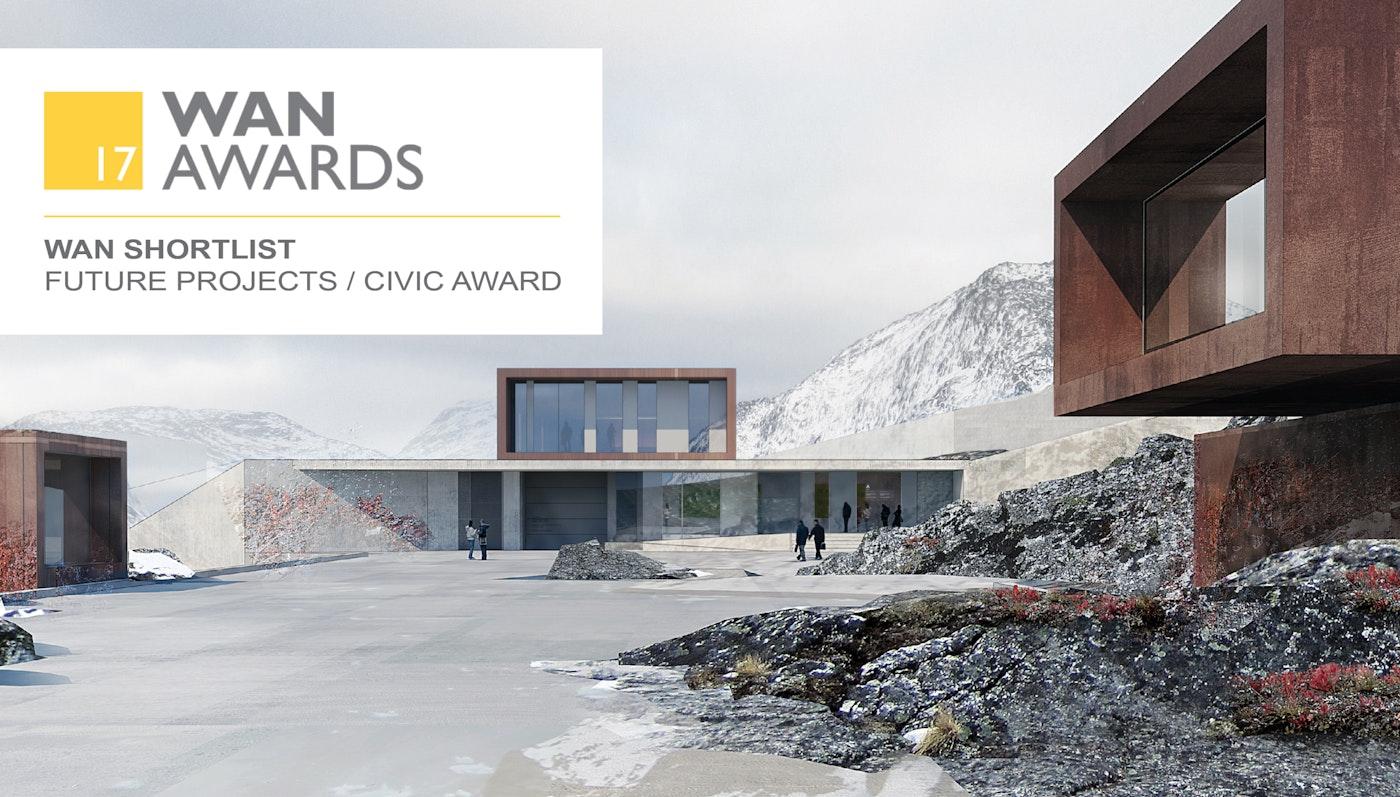 To projekter, Anstalten i Nuuk og Løvhusene i Nye, er blevet shortlistet til WAN AWARD 2017