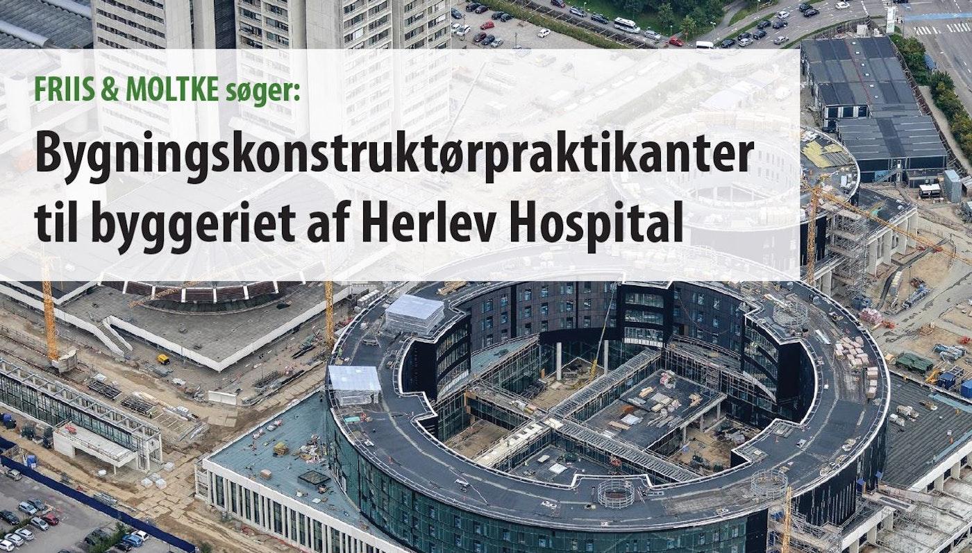 SØGES: Bygningskonstruktør-praktikanter til byggeriet af Herlev Hospital
