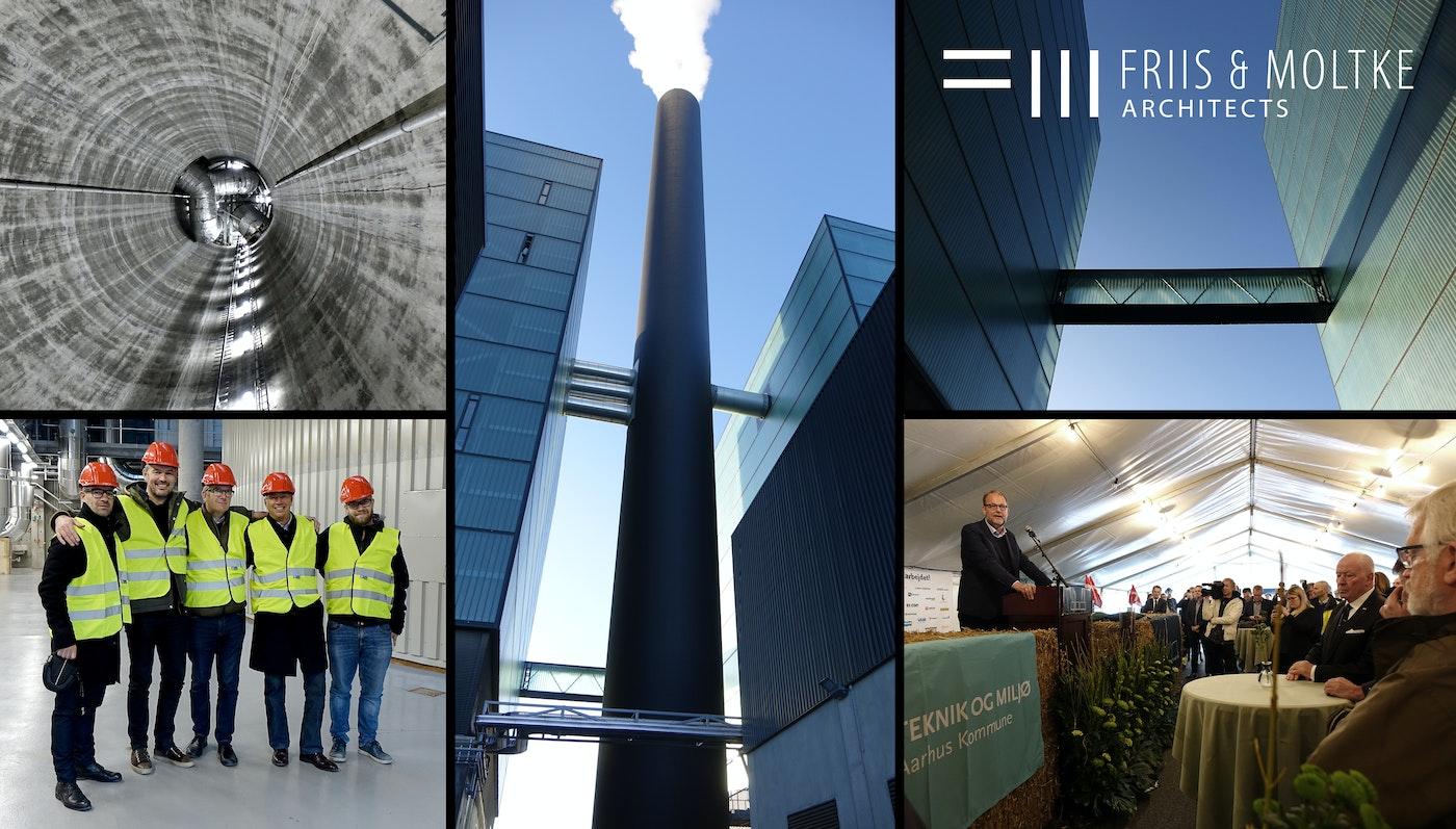 Aarhus' nye biomassefyrede kraftvarmeværk indviet af minister og rådmand