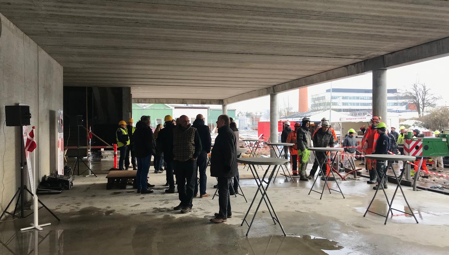 Rejsegilde på det nye Erhvervsakademi Sjælland, Campus Roskilde
