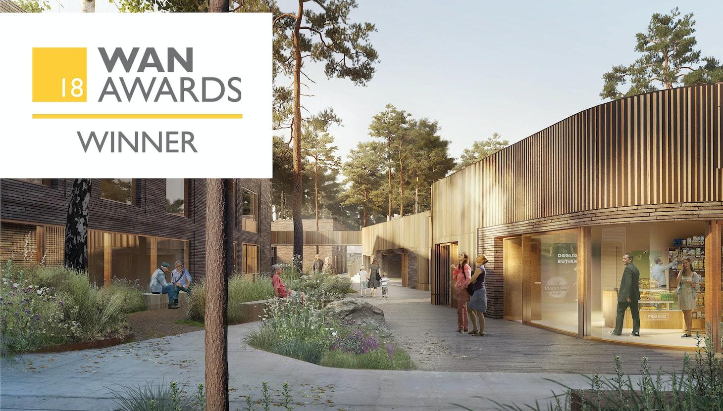 Strømme Senter vinder WAN Award 2018