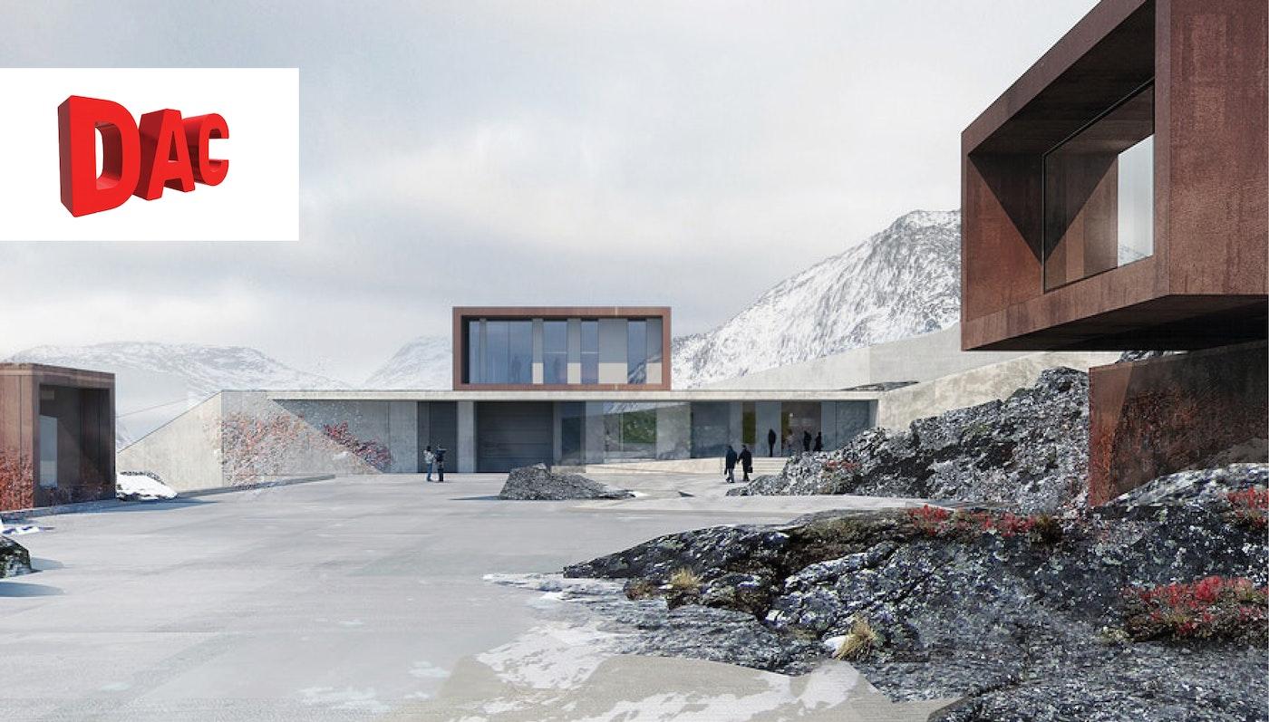 """Ny Anstalt i Nuuk på Dansk Arkitektur Centers sommerudstilling """"Hello Denmark"""""""