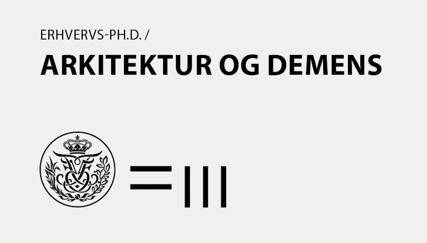 Erhvervs-ph.d. i Arkitektur og Demens